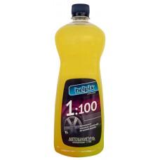 """Засіб миючий  """"Автошампунь"""" концентрація 1:100 Helpix. 1л"""